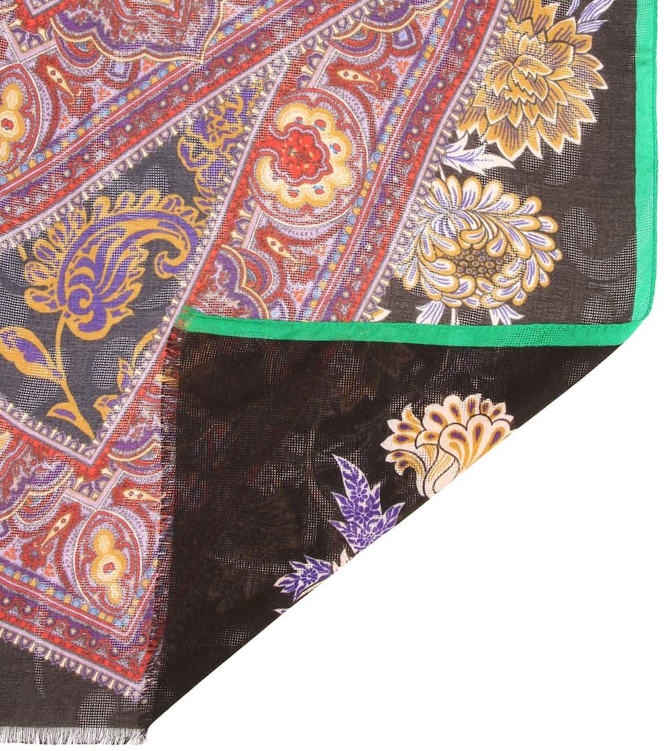 Foulard Imprimé En Modal Et Cachemire Mélangés - Etro