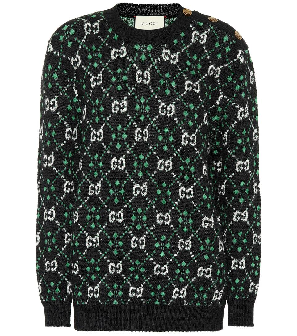 Gg Alpaca And Wool Sweater by Gucci