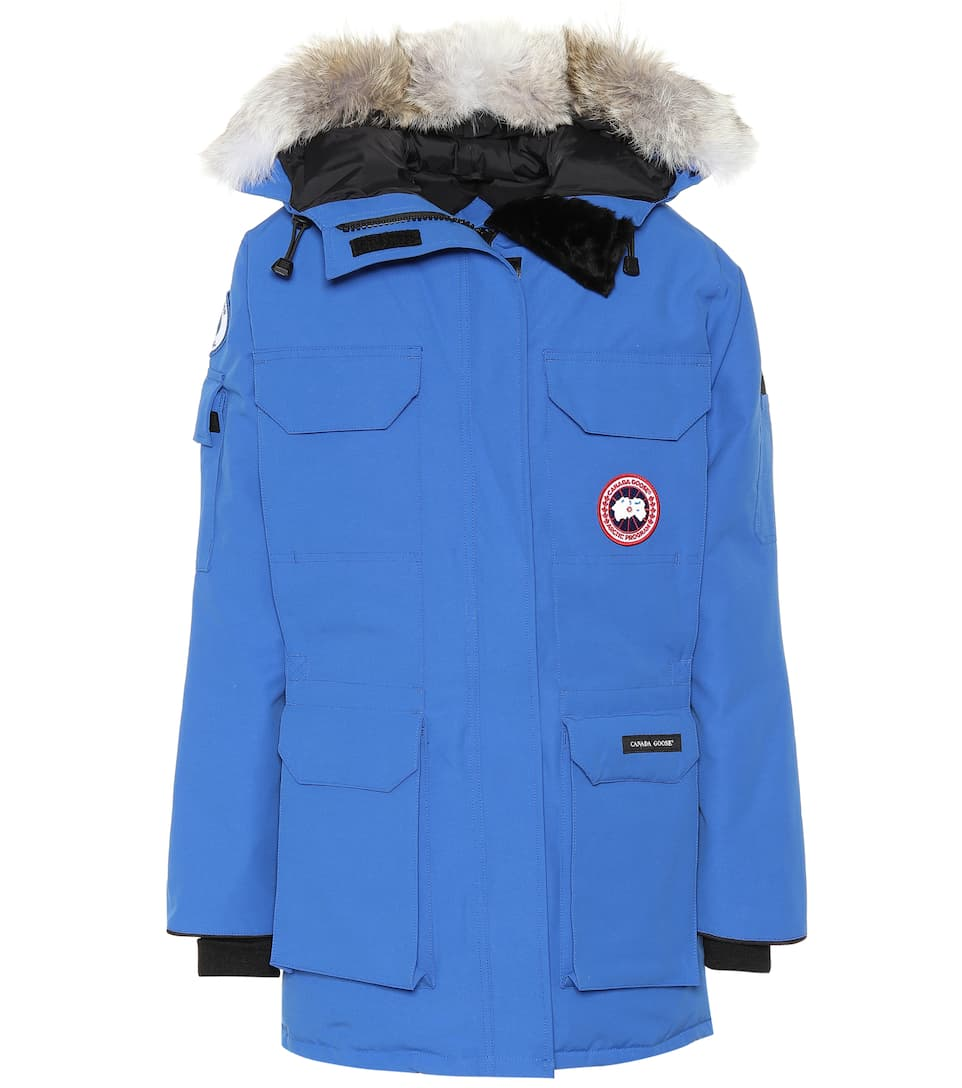 Canada Goose Pbi Expedition Hooded Down Parka With Genuine Coyote Fur Trim In Royal Pbi Blue