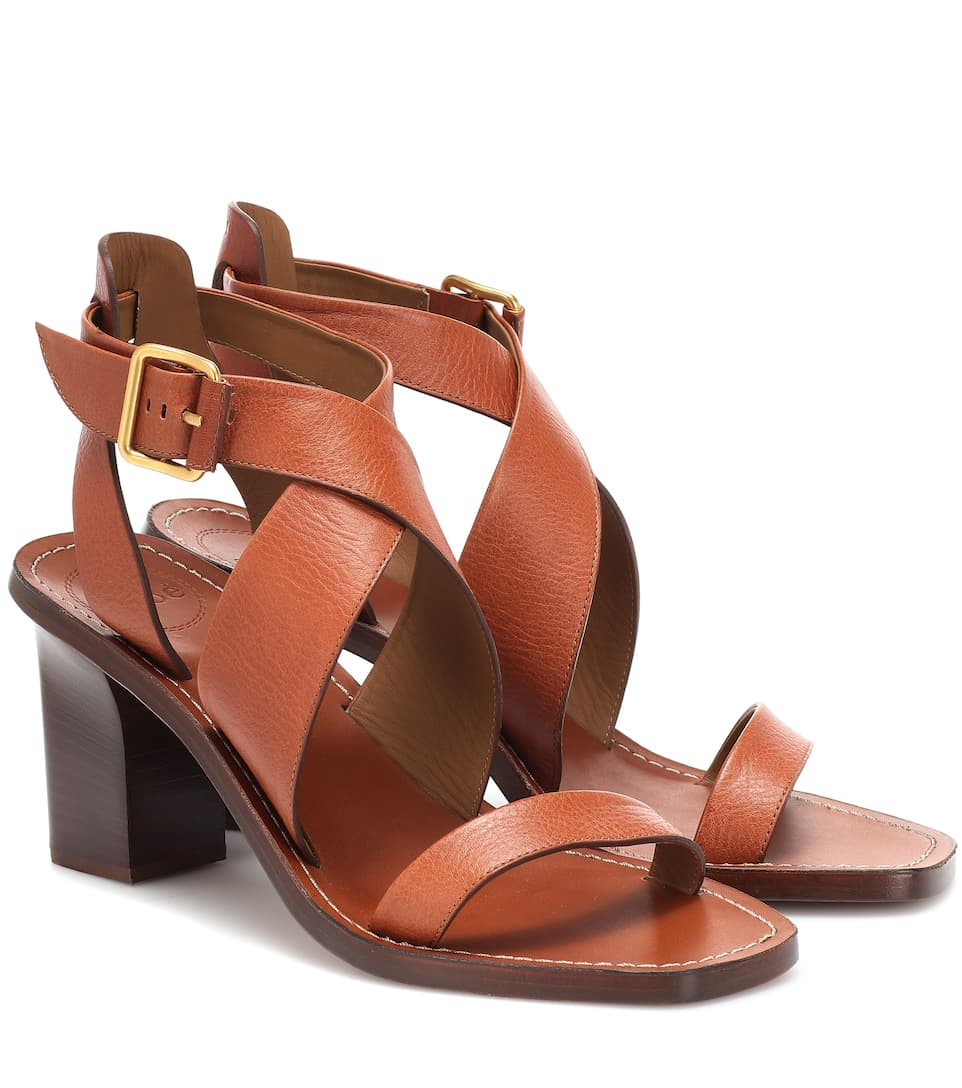Virginia Leather Sandals by Chloé