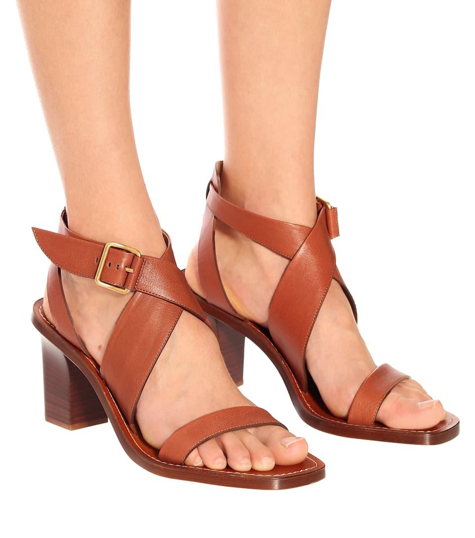 d9016b82b95 Virginia Leather Sandals | Chloé - mytheresa.com