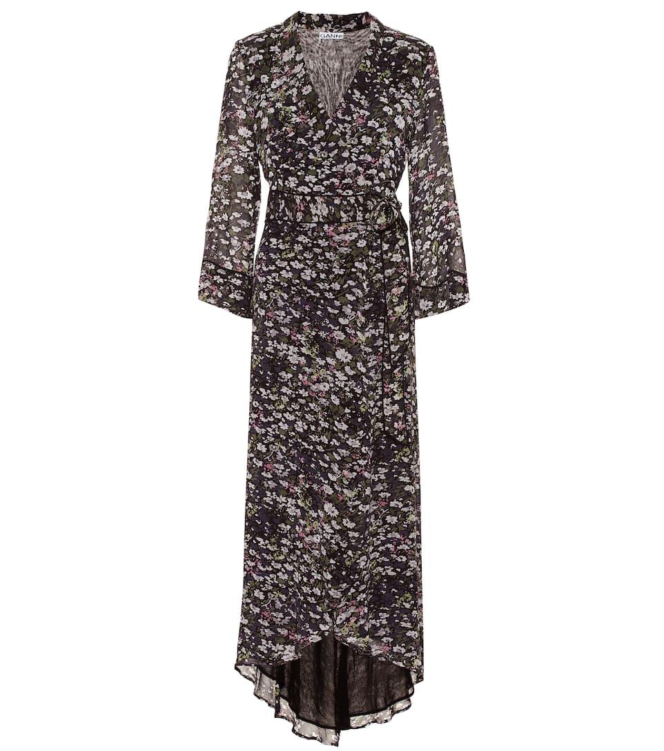 0057a56c14 Ganni - Floral georgette maxi wrap dress | Mytheresa