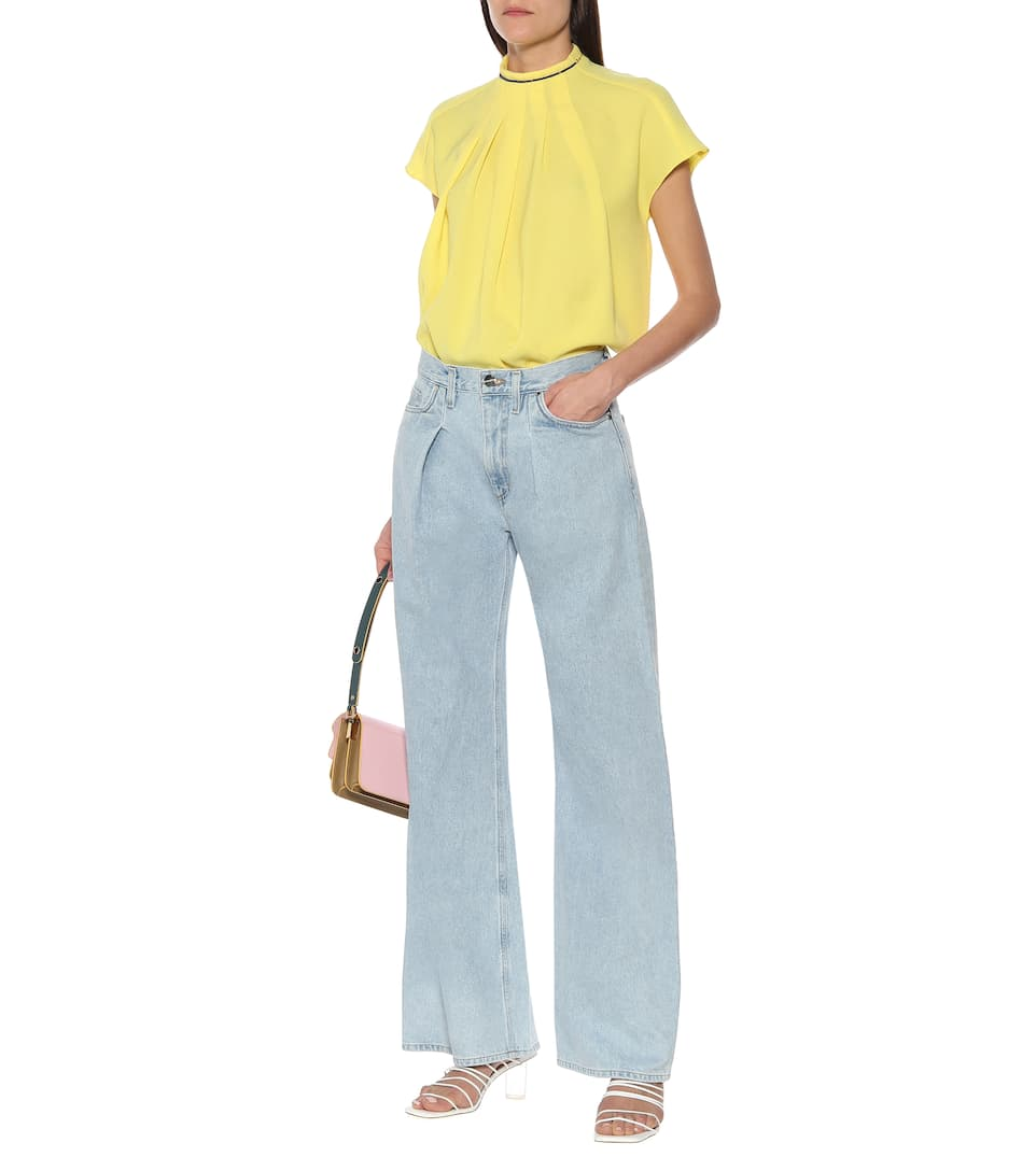 The Wide Leg mid rise jeans