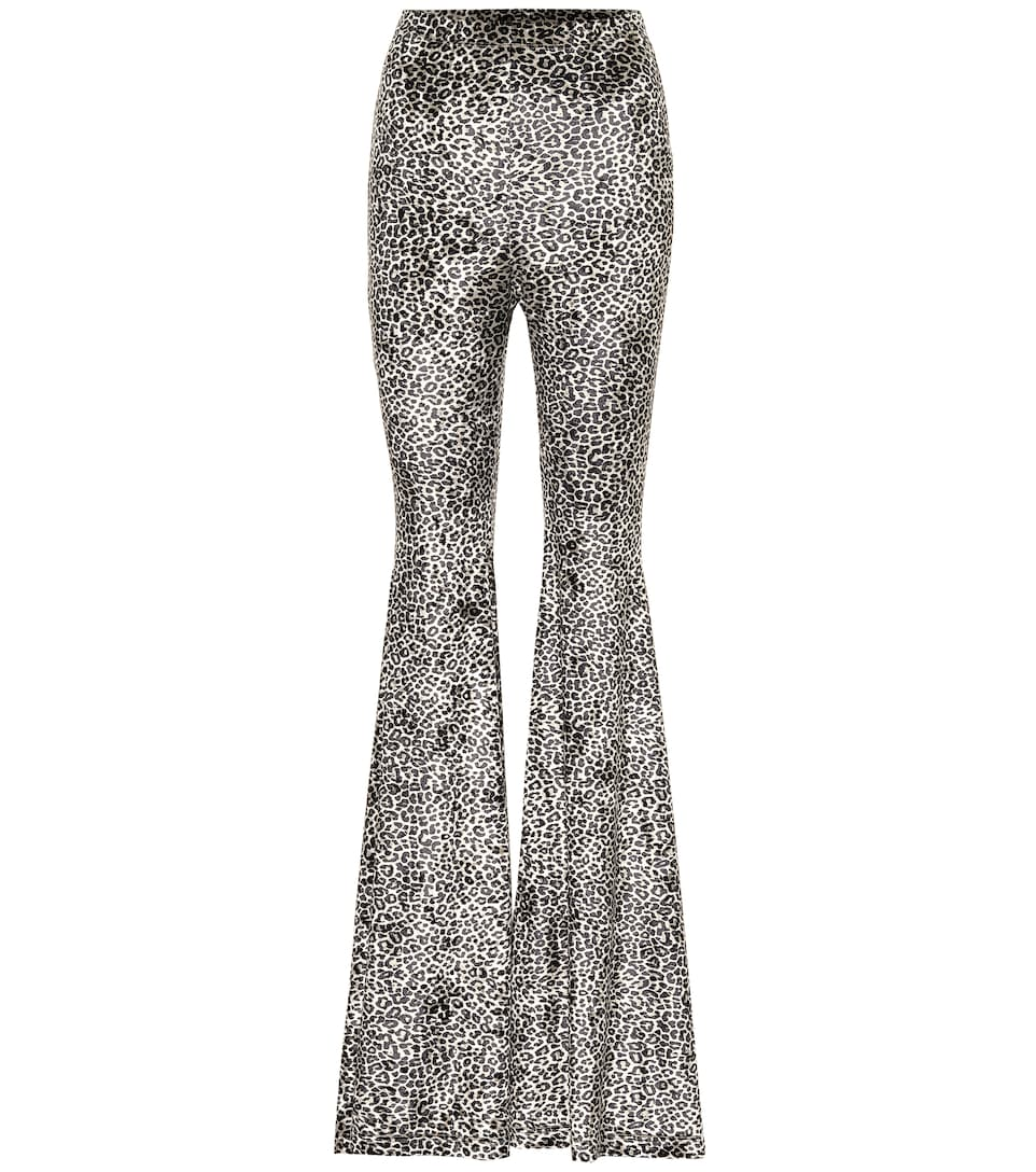 Vetements - High-rise leopard-print flared pants