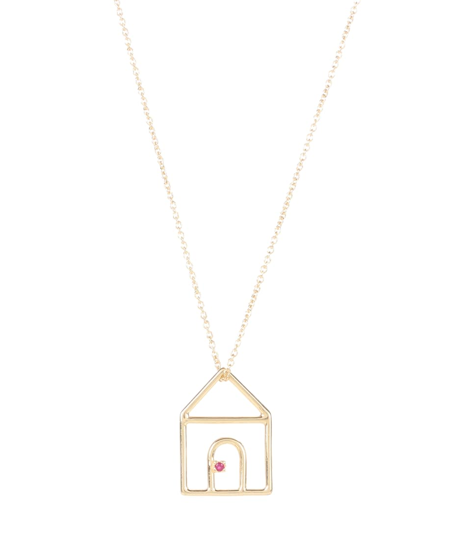 Aliita Casita 9kt gold and ruby necklace