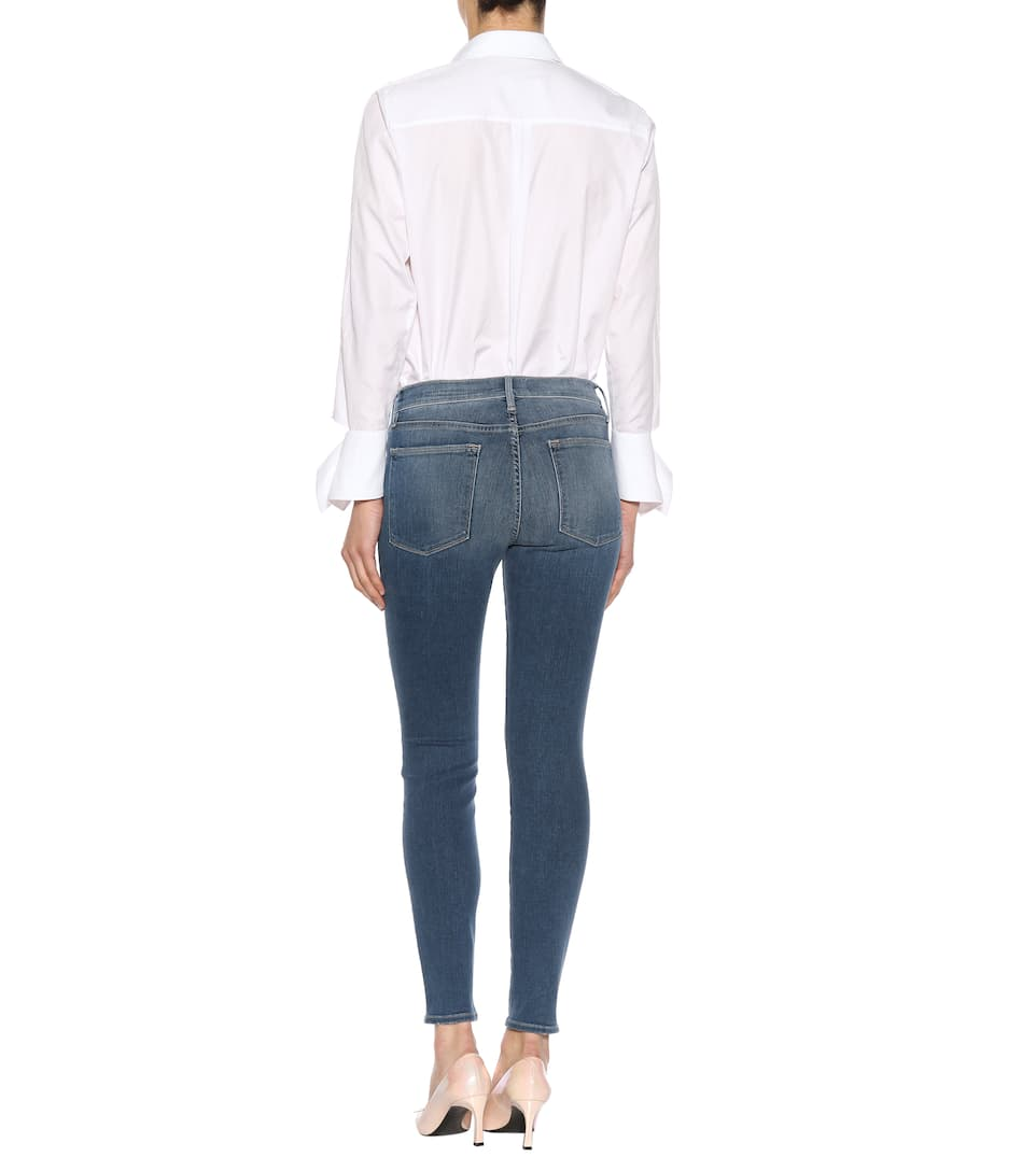 Frame Jeans Le High Skinny aus Baumwolle