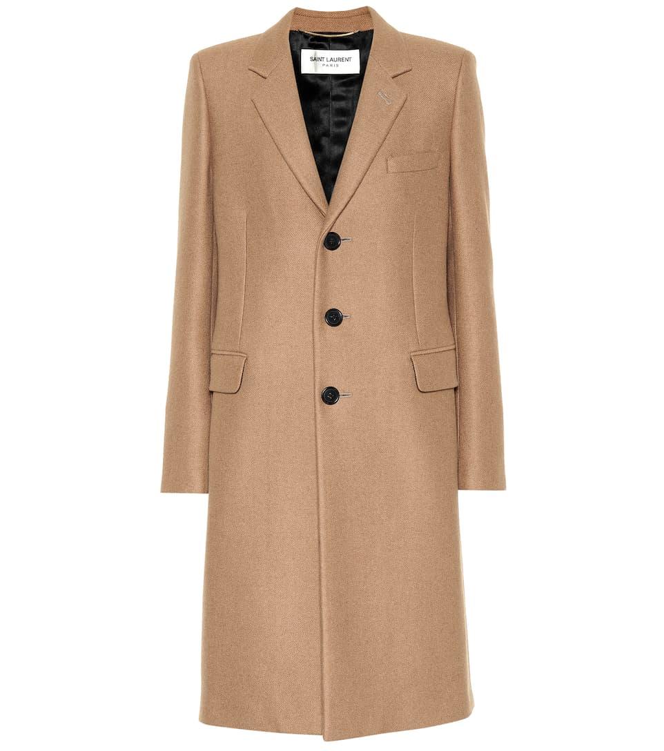 Camel Coat by Saint Laurent