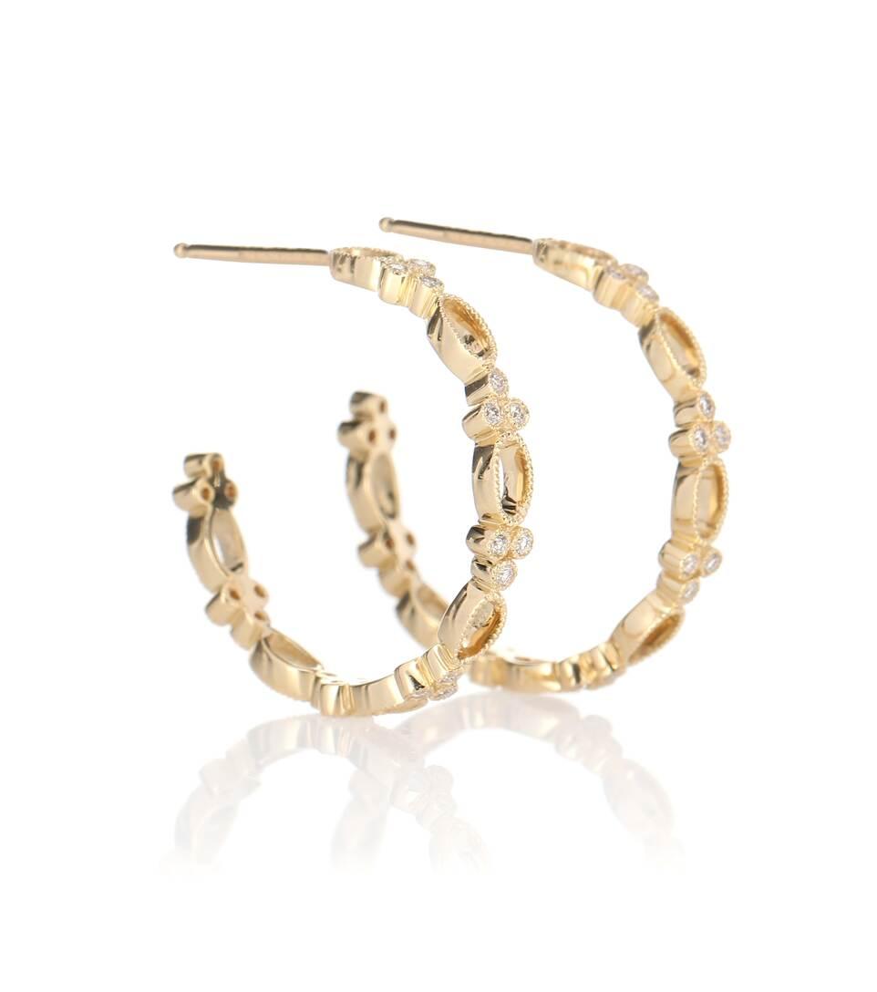 En Diamants Hoop D'oreilles N° Stone Artnbsp;p00345095 Et Jaune ParisMytheresa Volupte Ct Small 18 Or Boucles kuOiTZPX