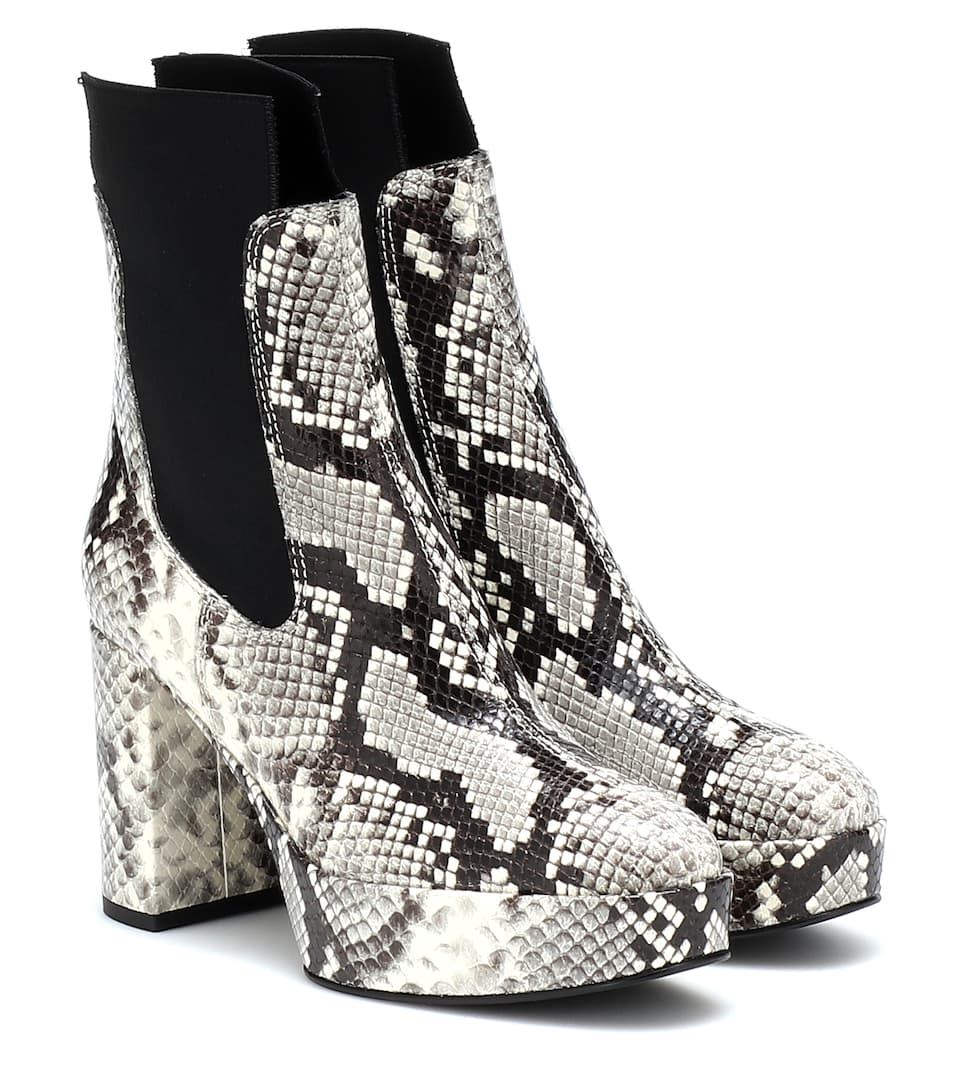 a1109a804 Embossed Leather Ankle Boots - Acne Studios | mytheresa.com
