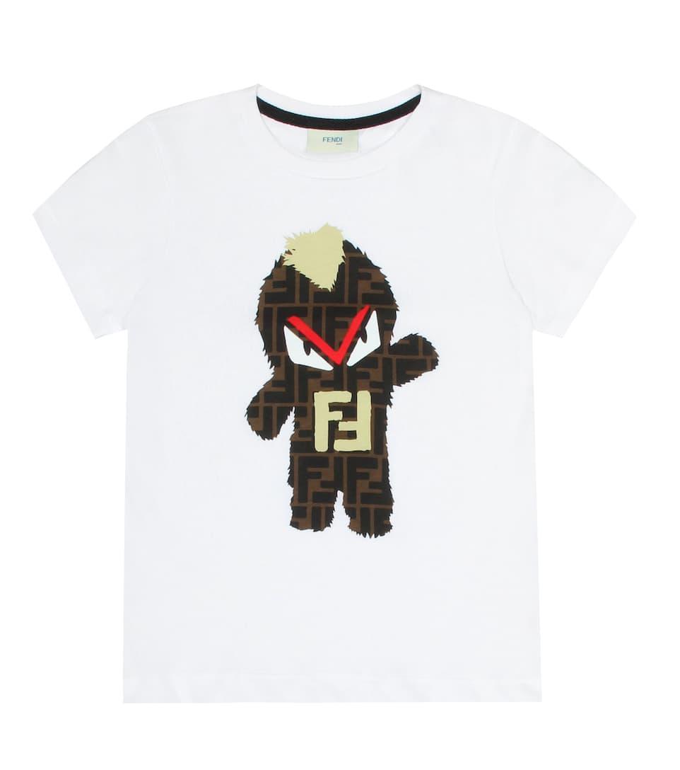 5613979a2bfa Fendi Kids - Printed cotton T-shirt