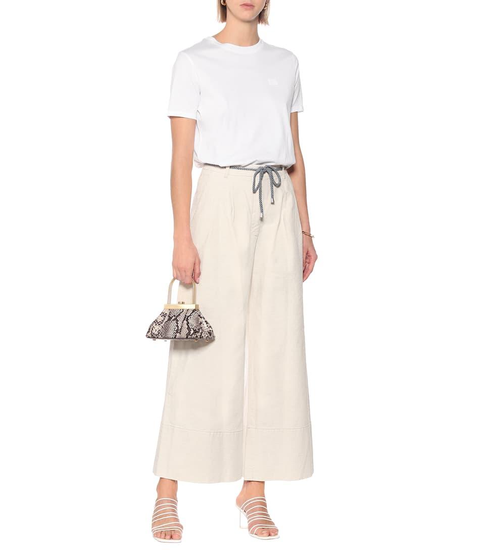 Baum und Pferdgarten - Nour cotton and linen wide-leg pants