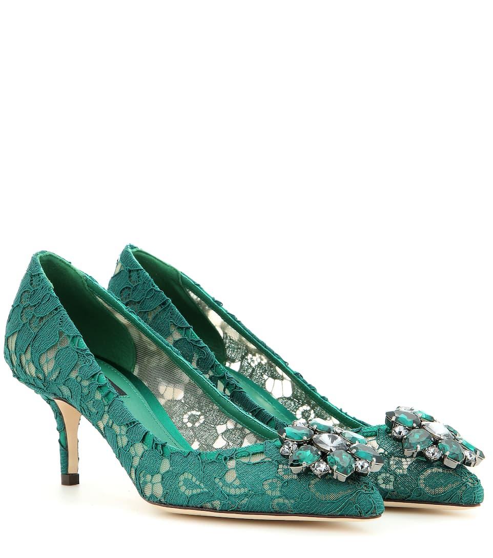 Dolce & Gabbana - Escarpins en dentelle à cristaux Bellucci