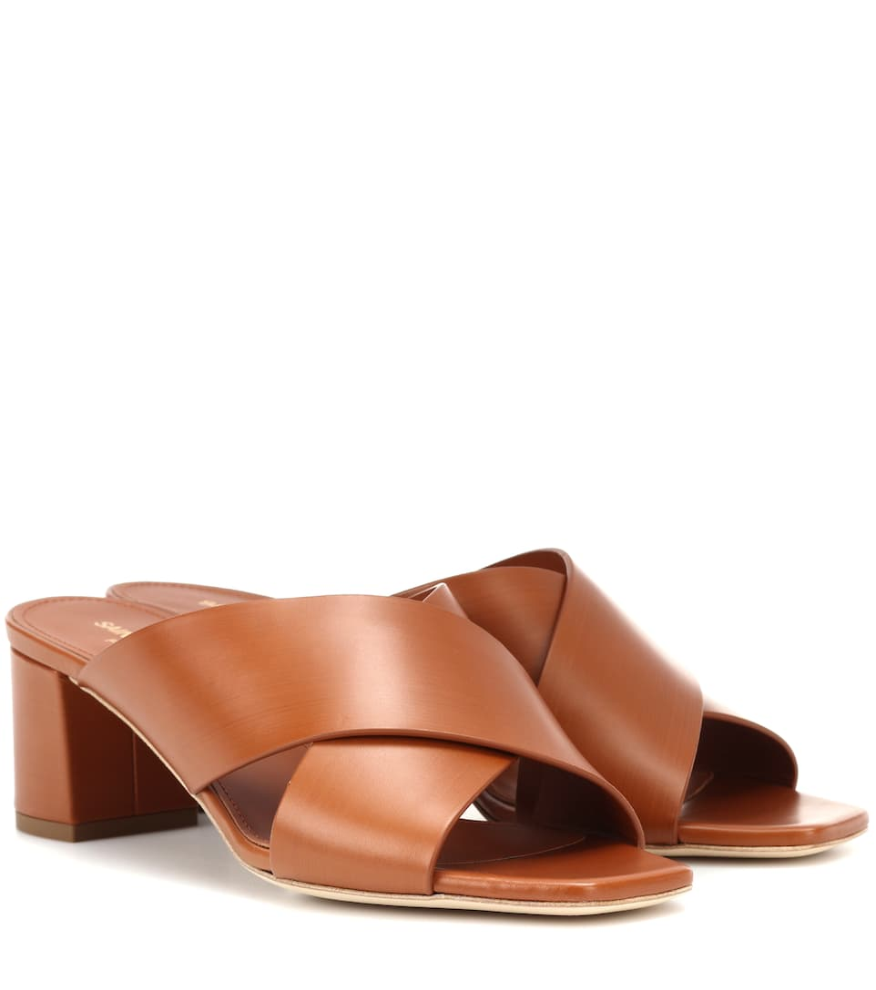 LOULOU 50 LEATHER SANDALS