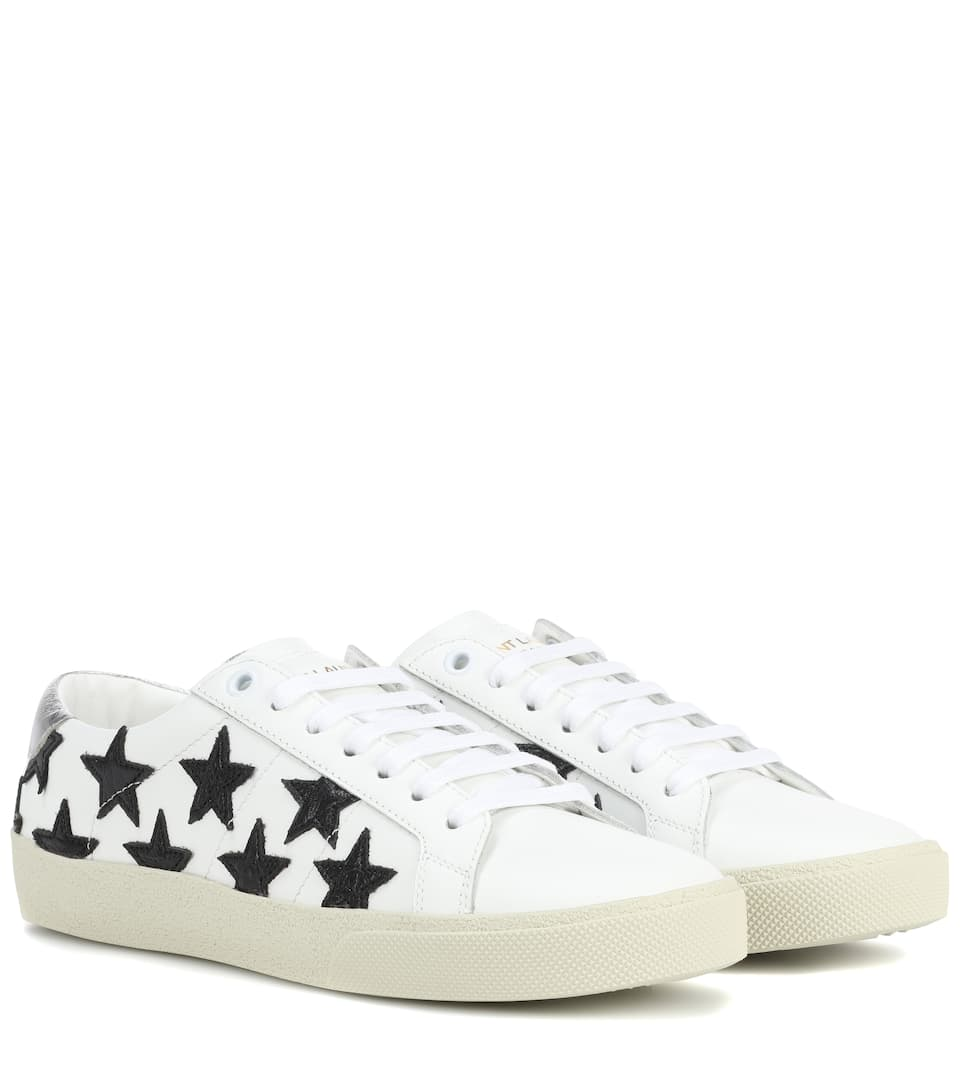 Sl/06 Court Classic Leather Sneakers, White/ Black