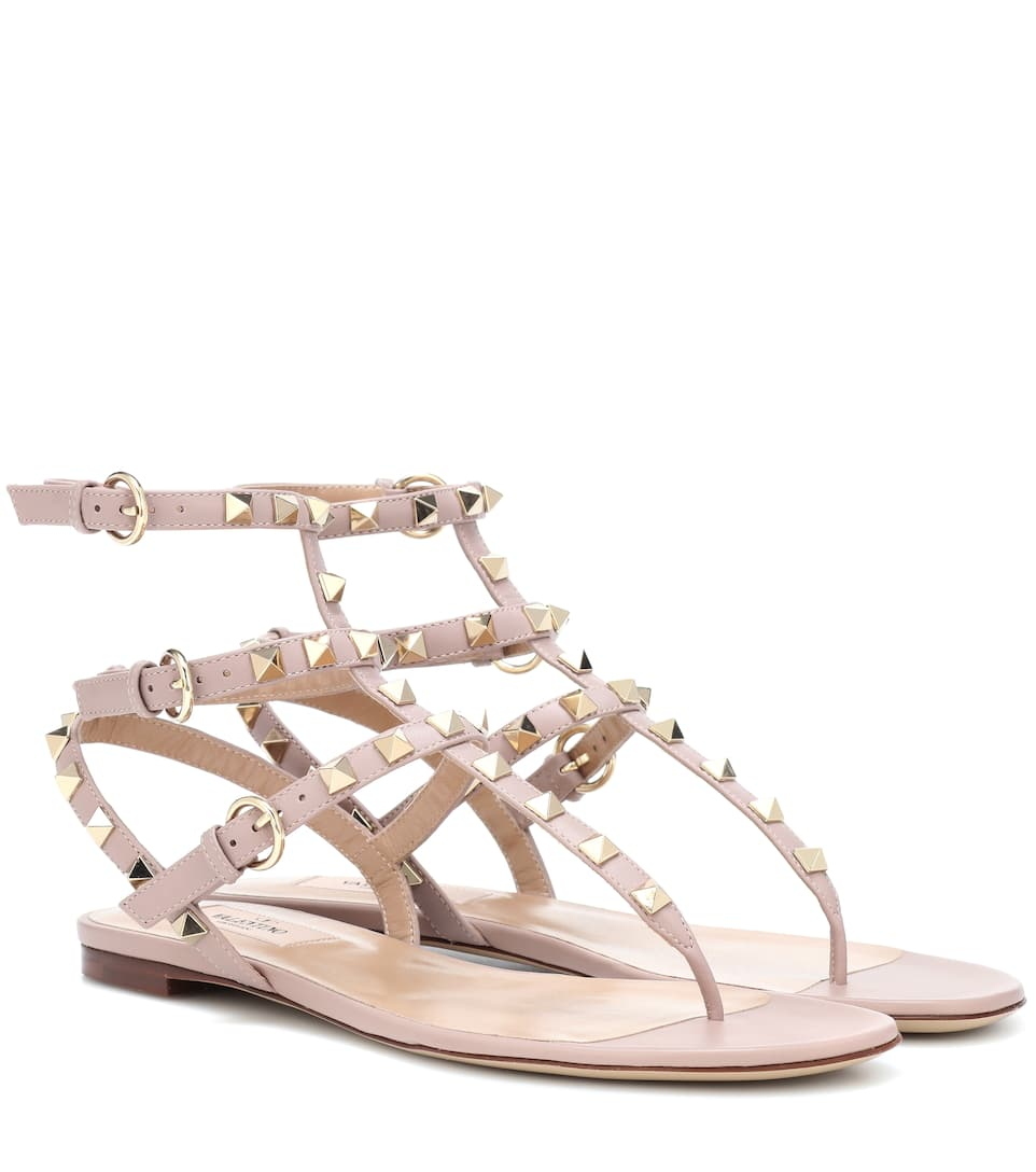 Valentino Garavani Rockstud Leather Sandals - Valentino
