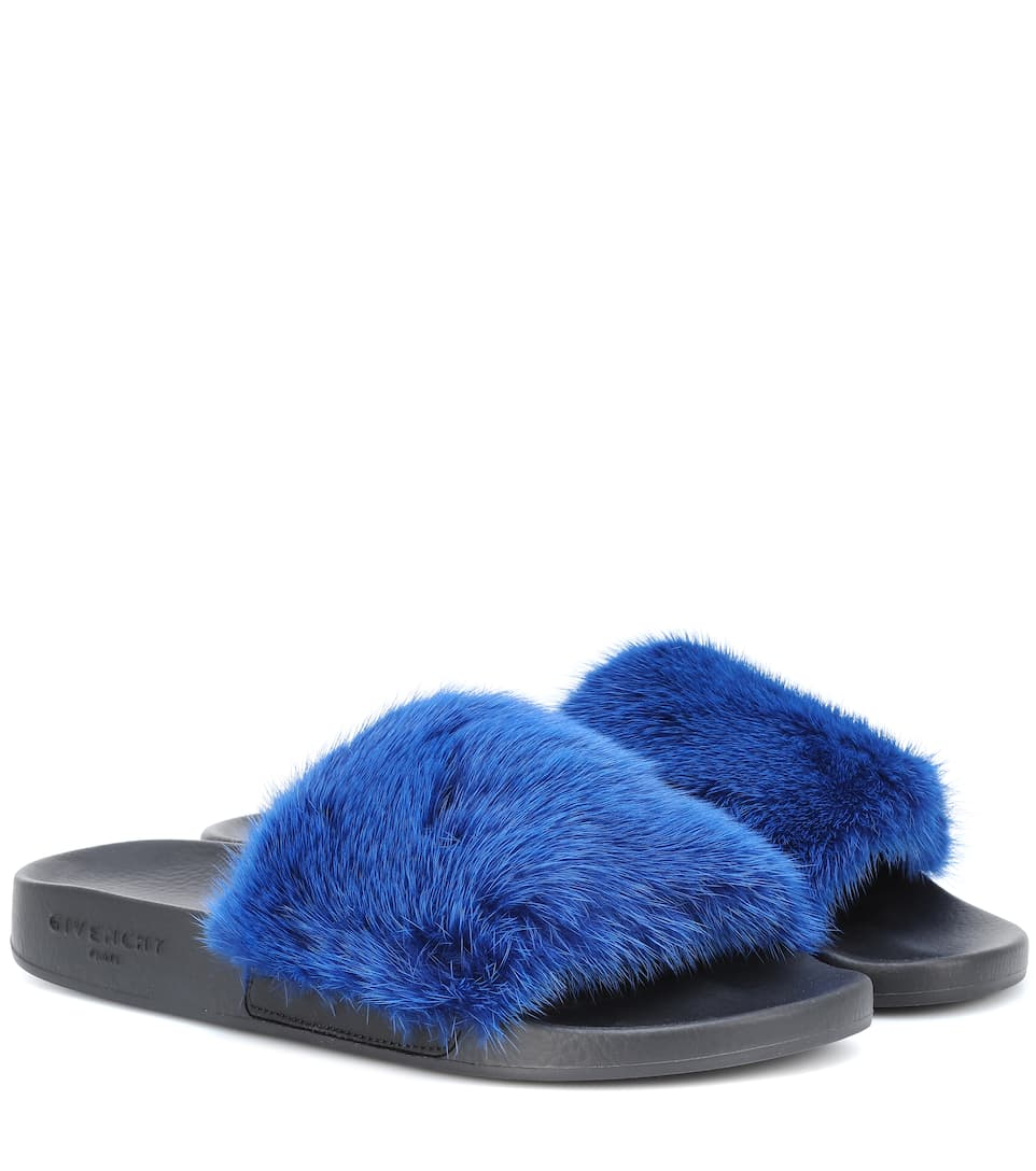 Givenchy - Mules en fourrure de vison