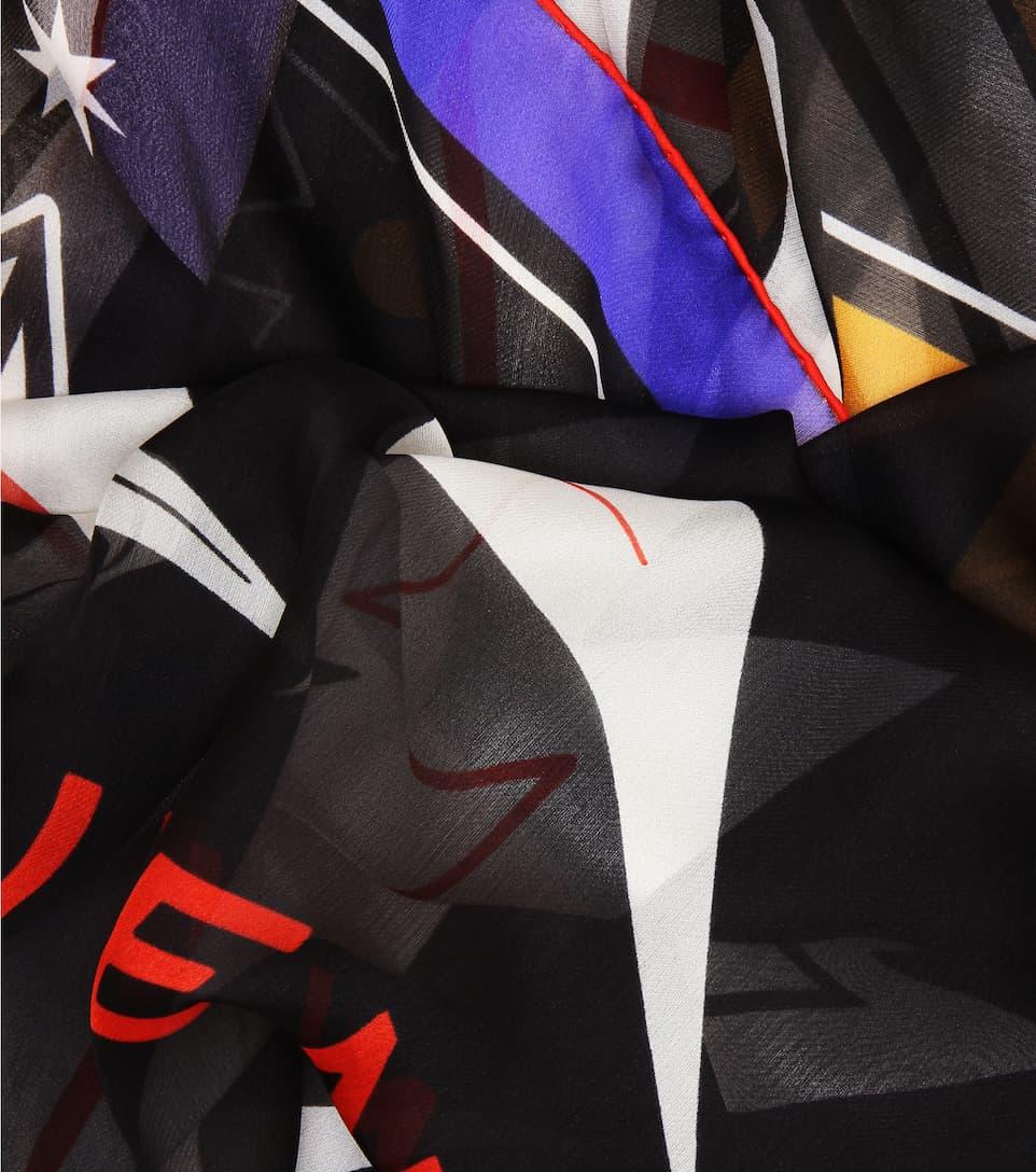 Givenchy - Foulard en soie imprimée Les Dates De Sortie De Sortie Prix Pas Cher En Ligne Sortie Rabais Sortie 2018 Nouvelle Prix Discount 4Af70Fdq1Y