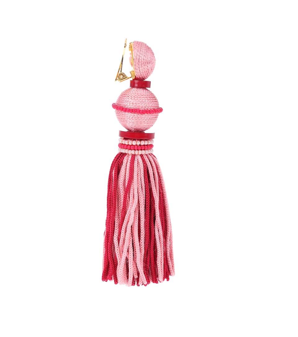 Exclusive to mytheresa.com - Ball Tassel silk earrings Oscar De La Renta NrPQMUl3YD