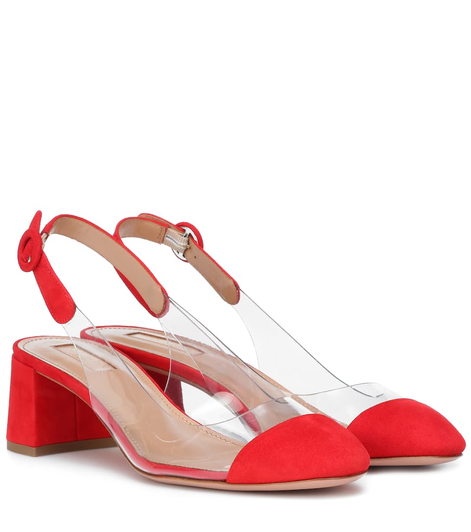 gamuza Carnation en Aquazzura Red bombas tapizadas Optic 50 XU7wqPH