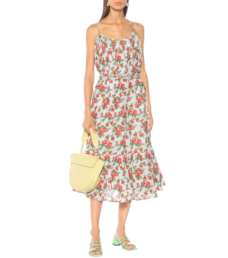 66f17224191d RHODE - Lea floral cotton midi dress | Mytheresa