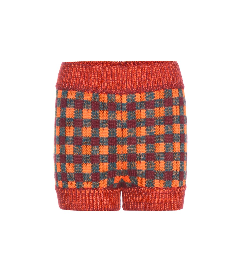 Miu Miu Knitted wool, alpaca and silk shorts