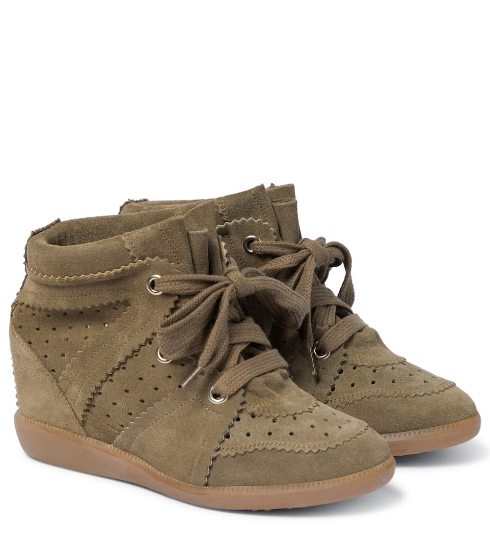5922bdcd58a1 Étoile Bobby Concealed Wedge Suede Sneakers - Isabel Marant   mytheresa.com