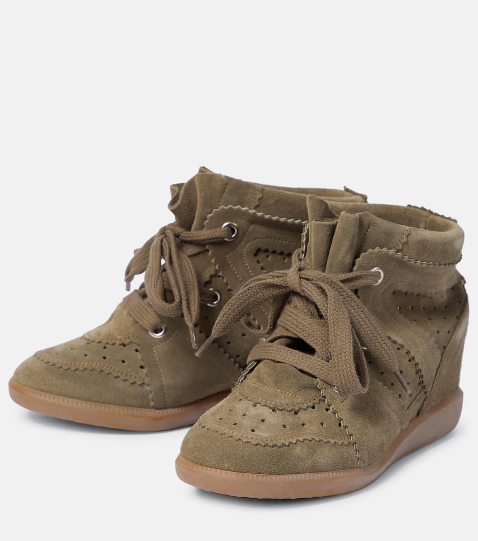 Isabel Marant Étoile Wedge-Sneakers Bobby aus Veloursleder