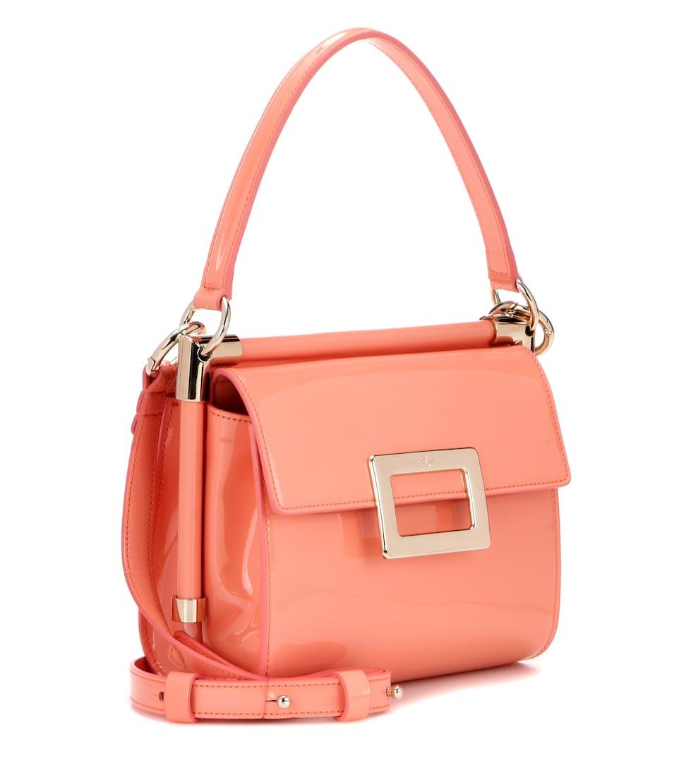 ROGER VIVIER Miss Viv' Carré Patent Leather Shoulder Bag ...