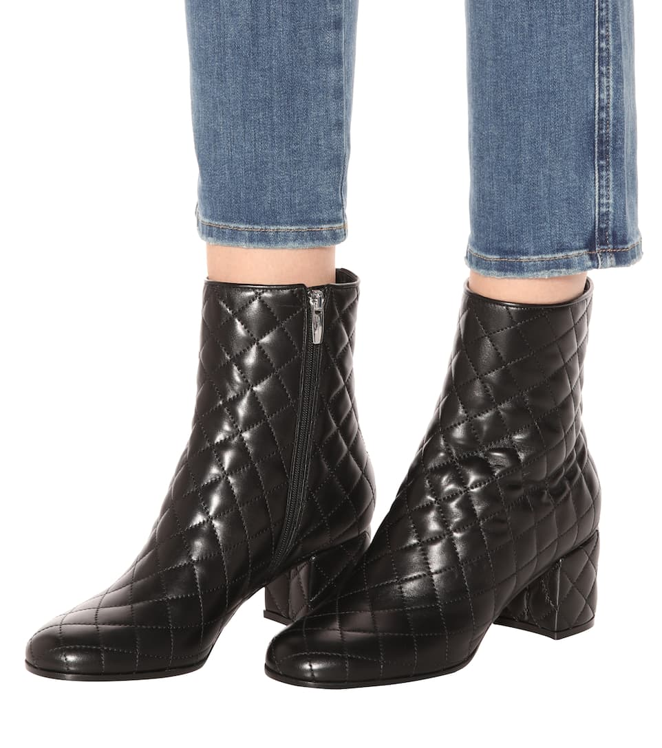 Gianvito Rossi Ankle Boots Margaux aus Leder