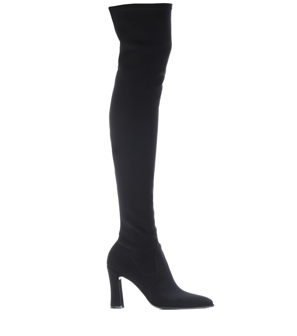 Stuart Weitzman Overknee-Stiefel Highchamp aus Crêpe Günstig Kaufen Eastbay Rabatte Für Verkauf q8trT