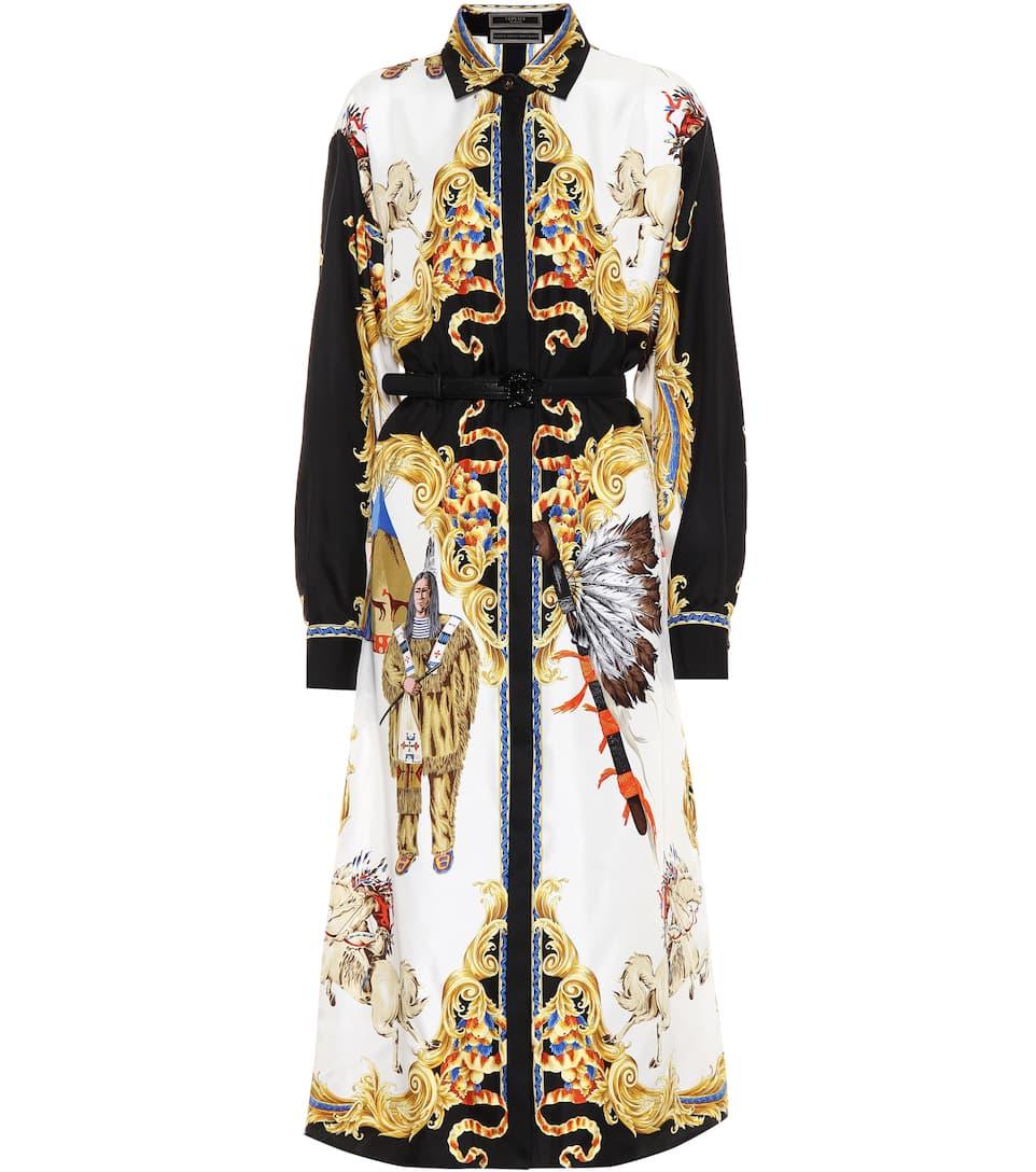Versace Hemdblusenkleid Native Americans
