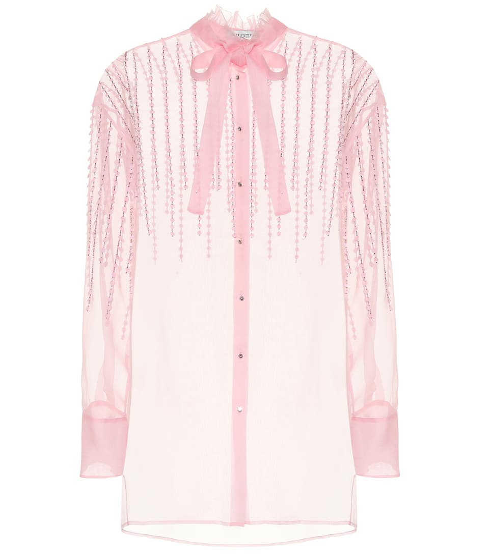 Silk Organza Blouse by Valentino