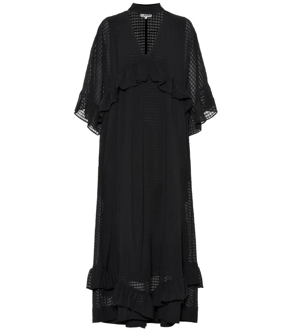 드레스 GanniN° GanniN° 시어서커 맥시 Artnbsp;p00399242 맥시 시어서커 시어서커 드레스 드레스 맥시 Artnbsp;p00399242 GanniN° 34R5AjL