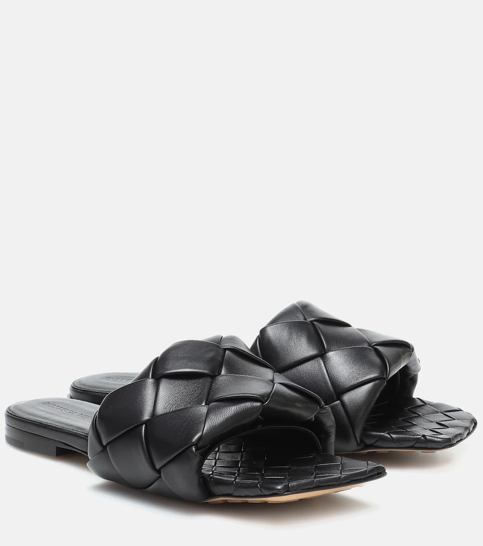 Bottega Veneta Leather Bv Lido Flat Mules In Intrecciato