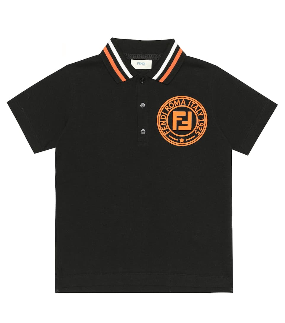 Fendi Logo cotton polo shirt