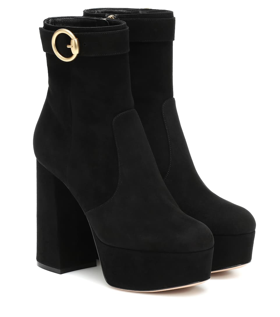 Suede Platform Ankle Boots | Gianvito
