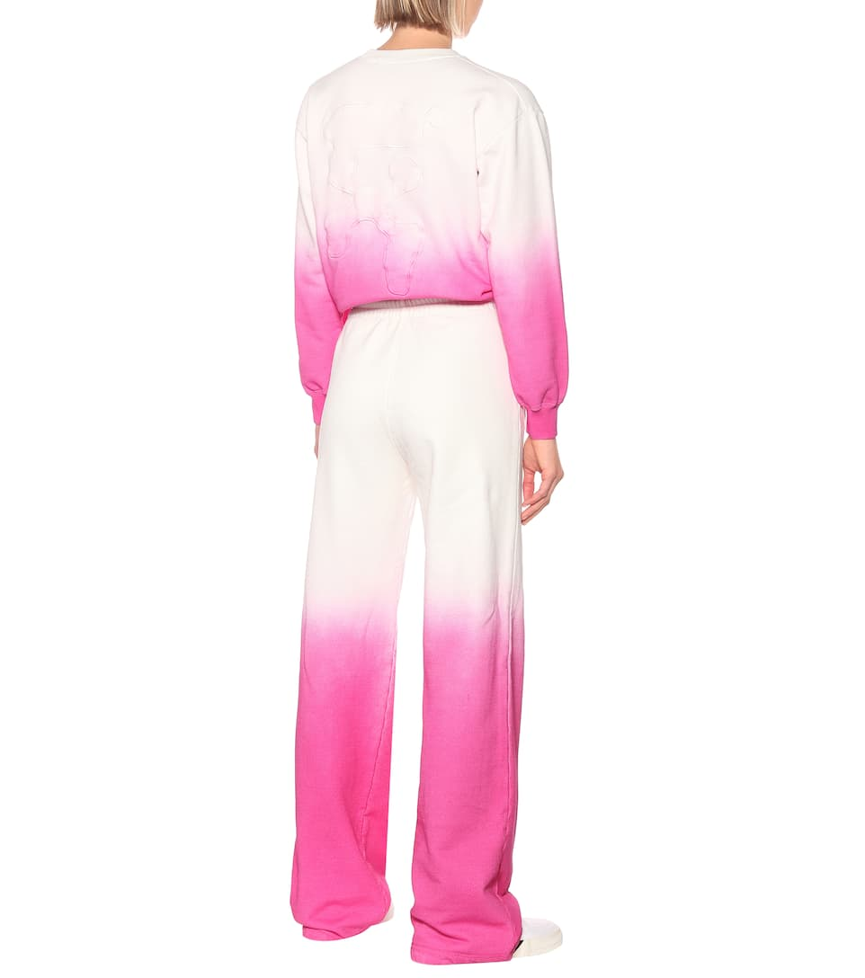 Off-White - Tie-dye cotton trackpants