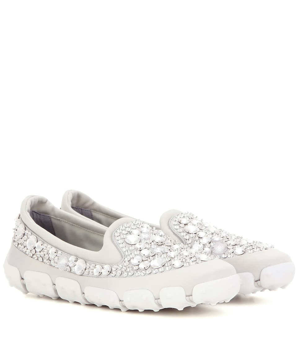 Miu Miu Embellished slip-on sneakers