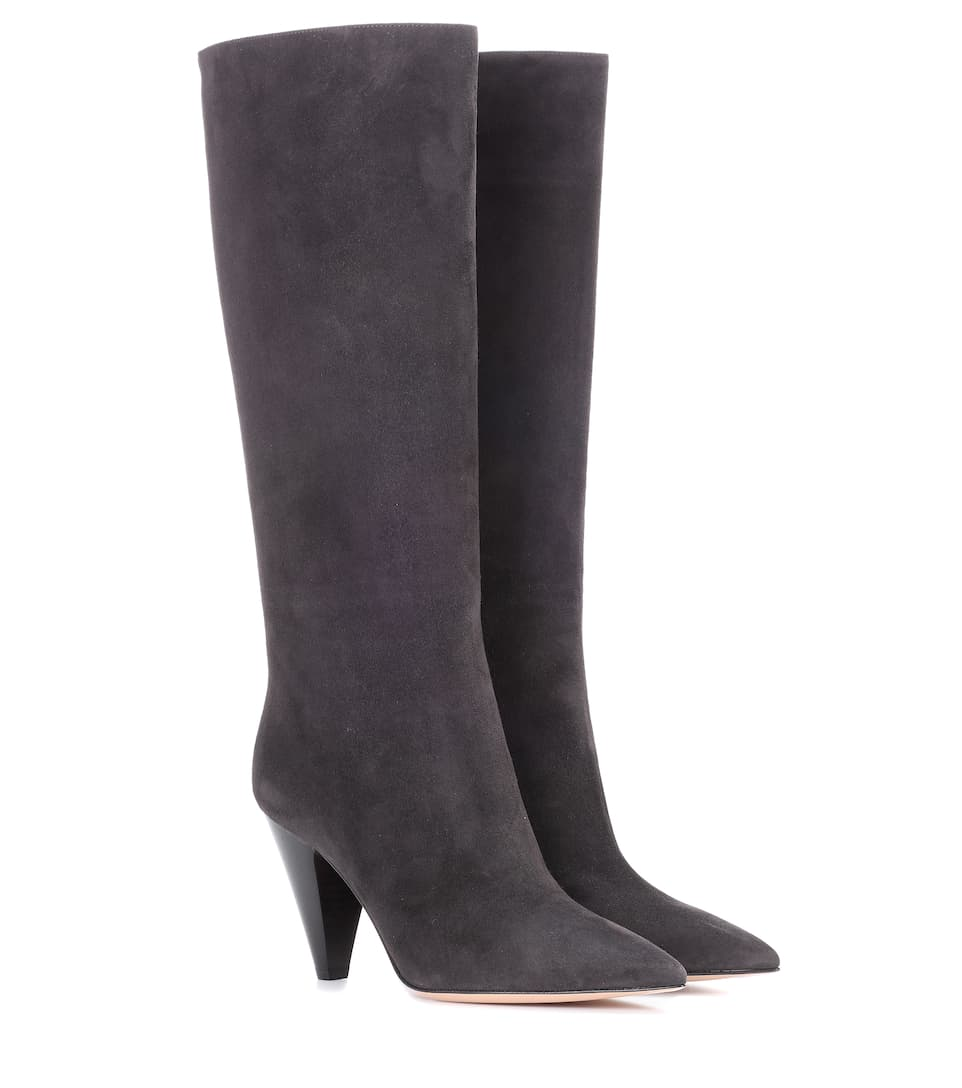 Gianvito Rossi Calf Boots in Grey