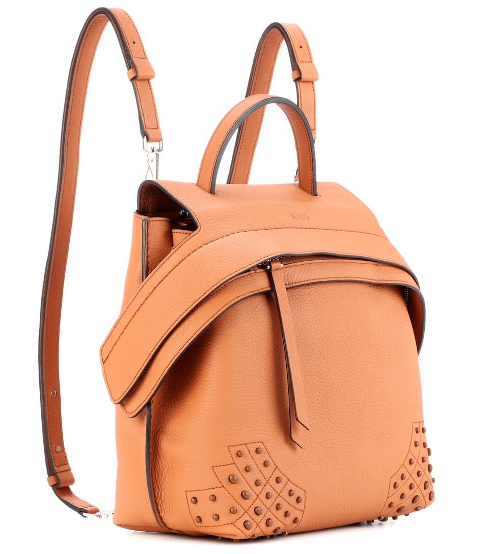 Wave leather backpack Tod's