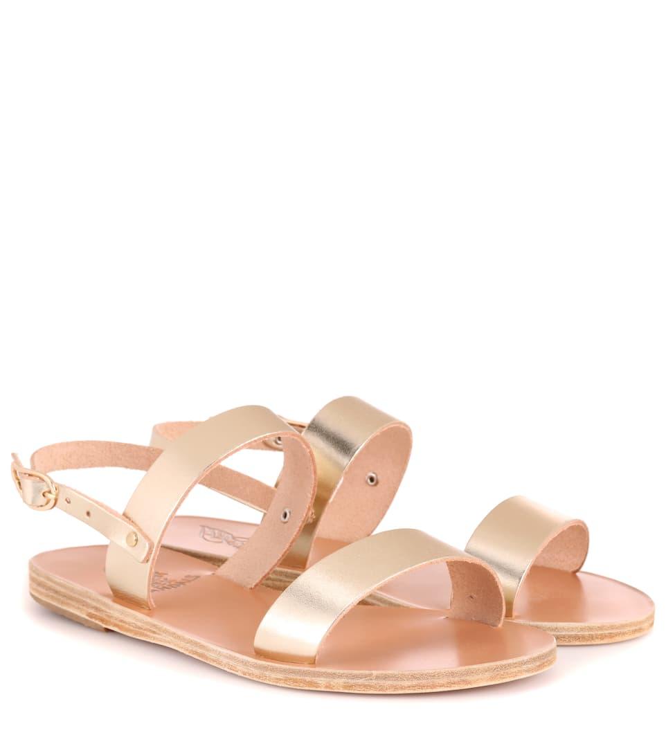 Ancient Greek Sandals Clio Metallic Leather Sandals Gr. IT 40 c72wTw9D6