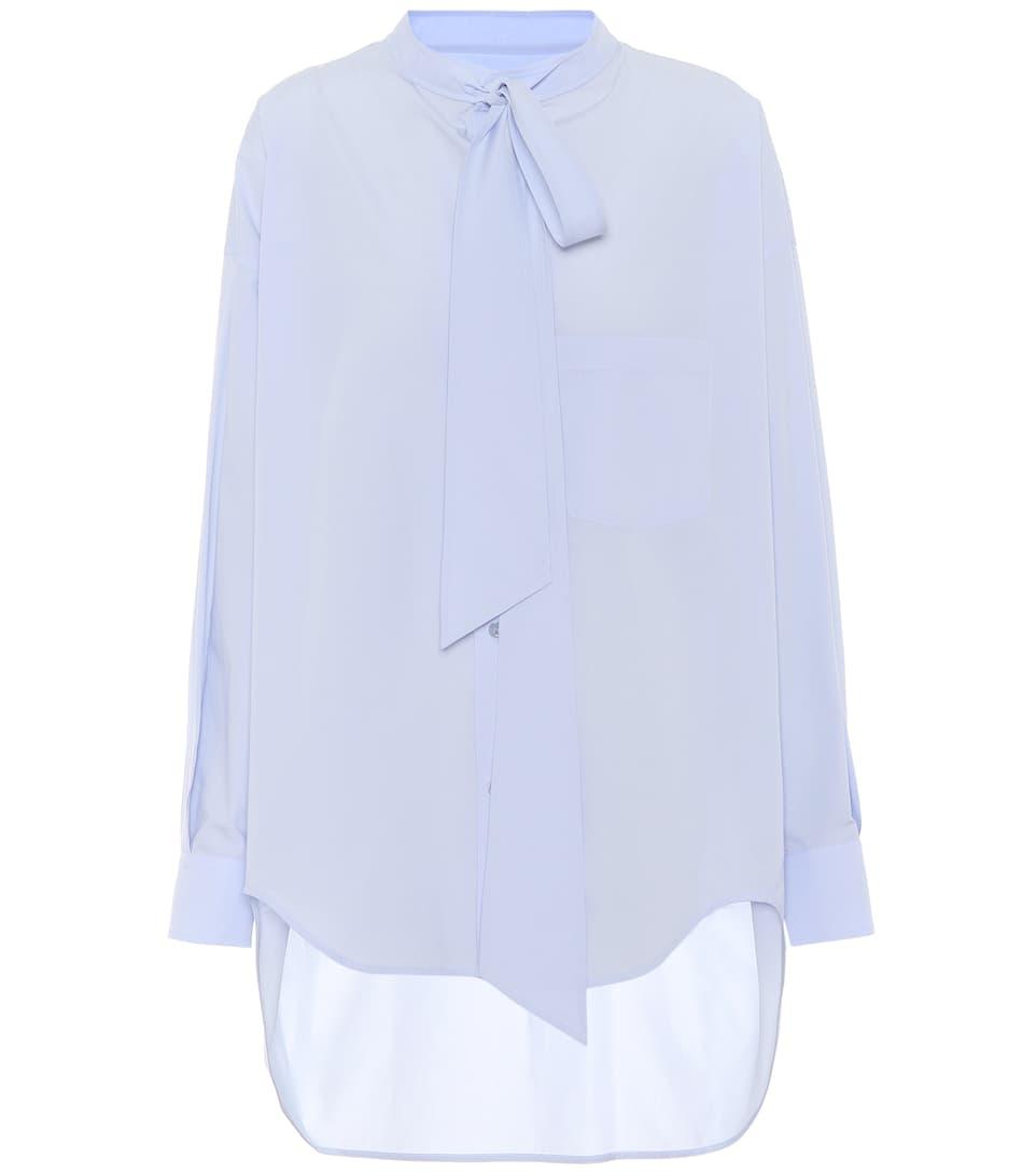 de estampada Givre algodón Balenciaga de Camisa popelina Ax648v