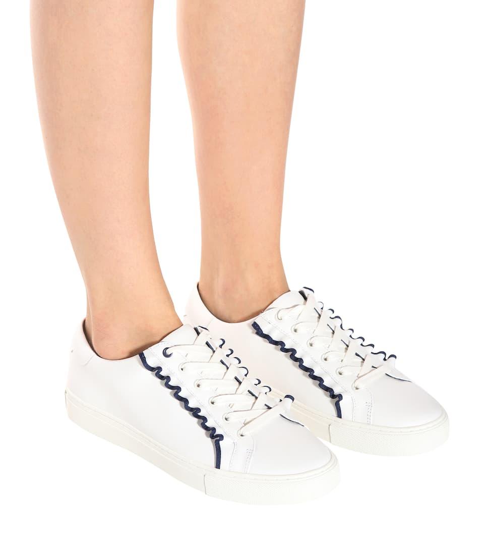 Tory Sport Sneakers Ruffle aus Leder