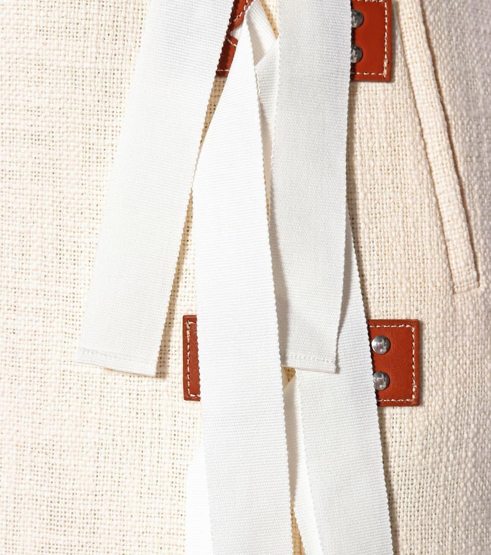 Altuzarra Midirock Sorbonne aus Baumwolle mit Leder