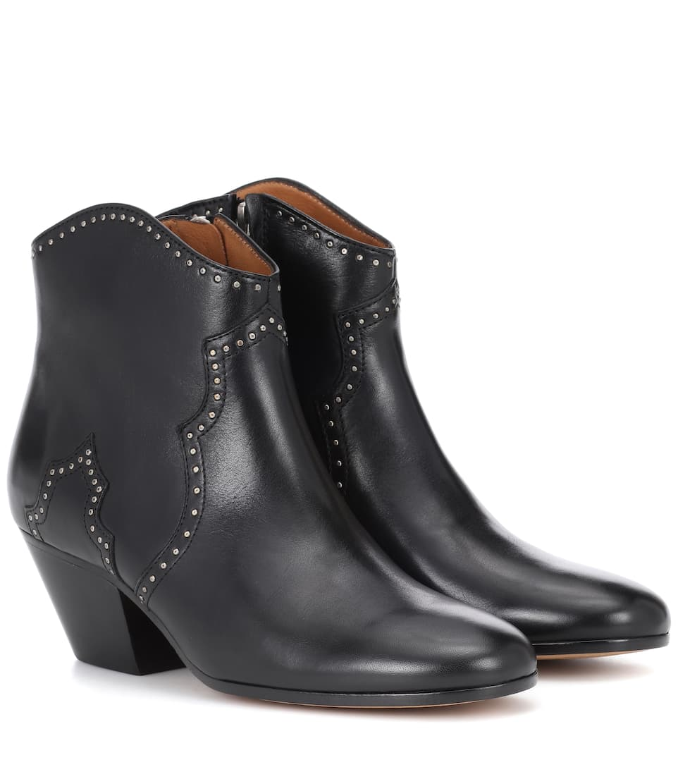 Bottines En Cuir A Clous Dicker Isabel Marant Mytheresa