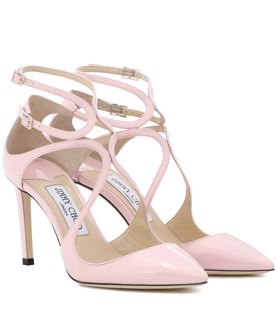 ed90c3ac31f Jimmy Choo Lancer 85 Patent-Leather Pumps In Baby Pink