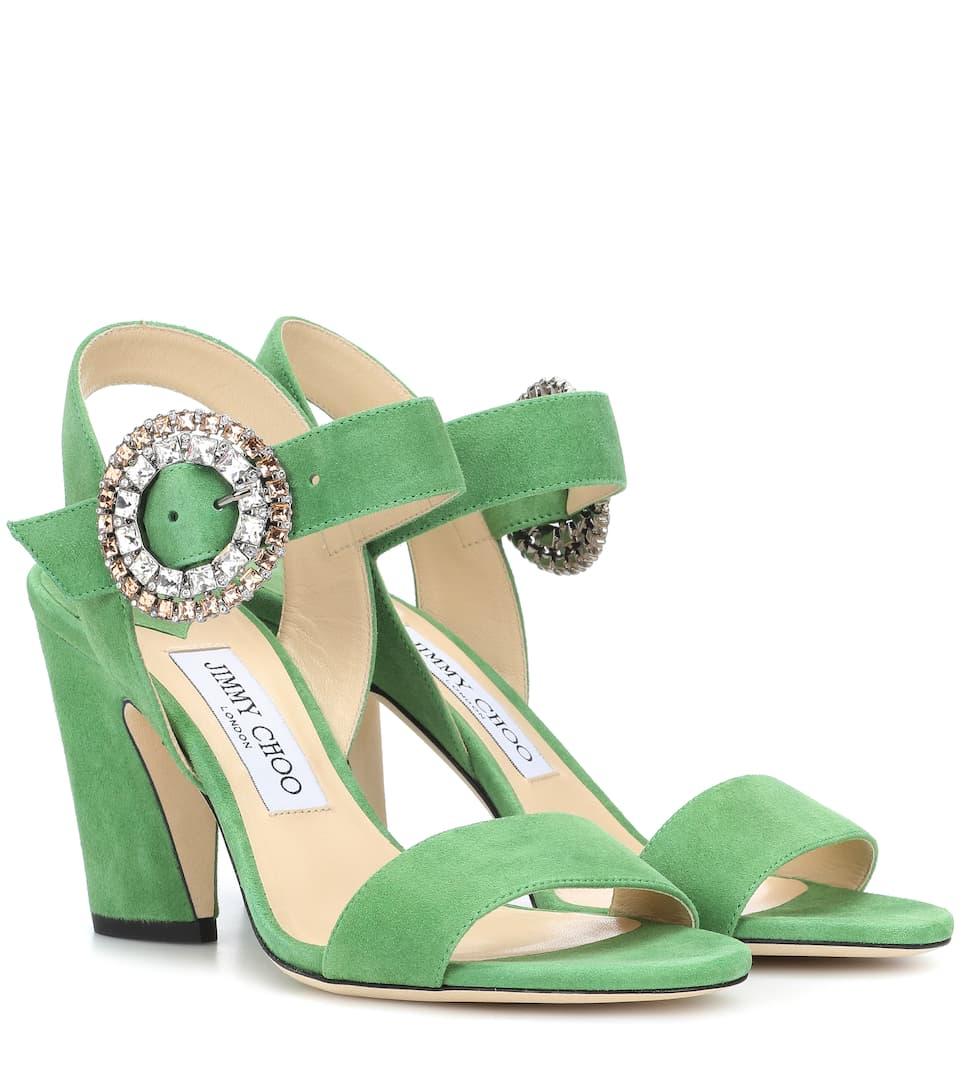 Sandales En Daim Mischa 85 - Jimmy Choo