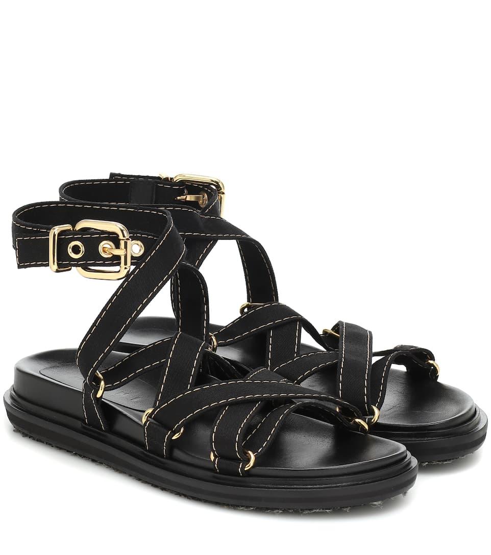 Marni - Canvas sandals   Mytheresa
