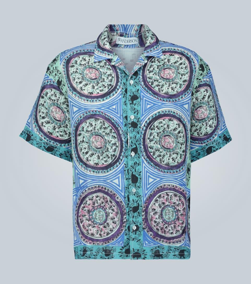 Jw Anderson Mystic Paisley-printed Linen Shirt