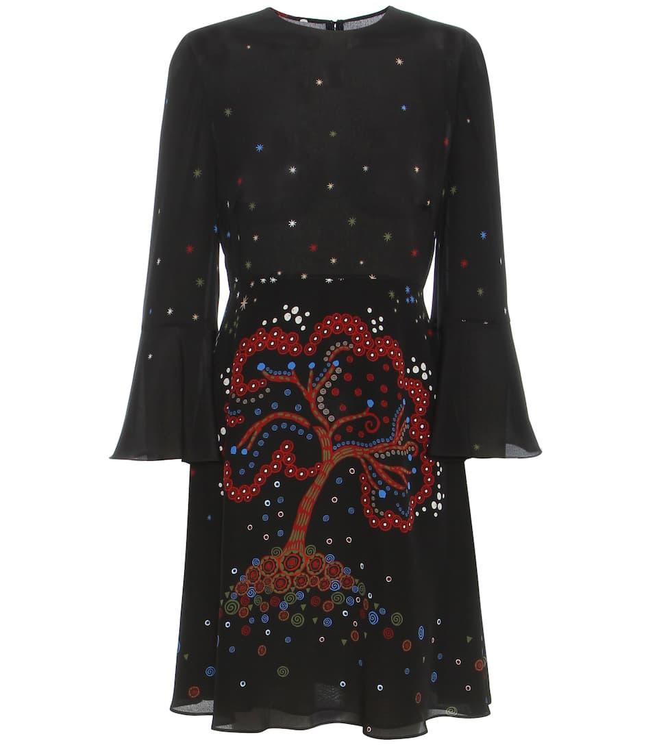 Valentino Printed silk dress